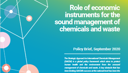 Role of economic instruments for the sound management of chemicals and waste